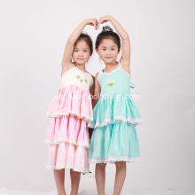 Nuevo diseño Kid Girls Flower Clothing Dresses Boutique